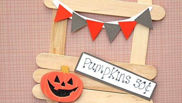 Popsicle Stick Pumpkin Patch Stand – Kid Craft