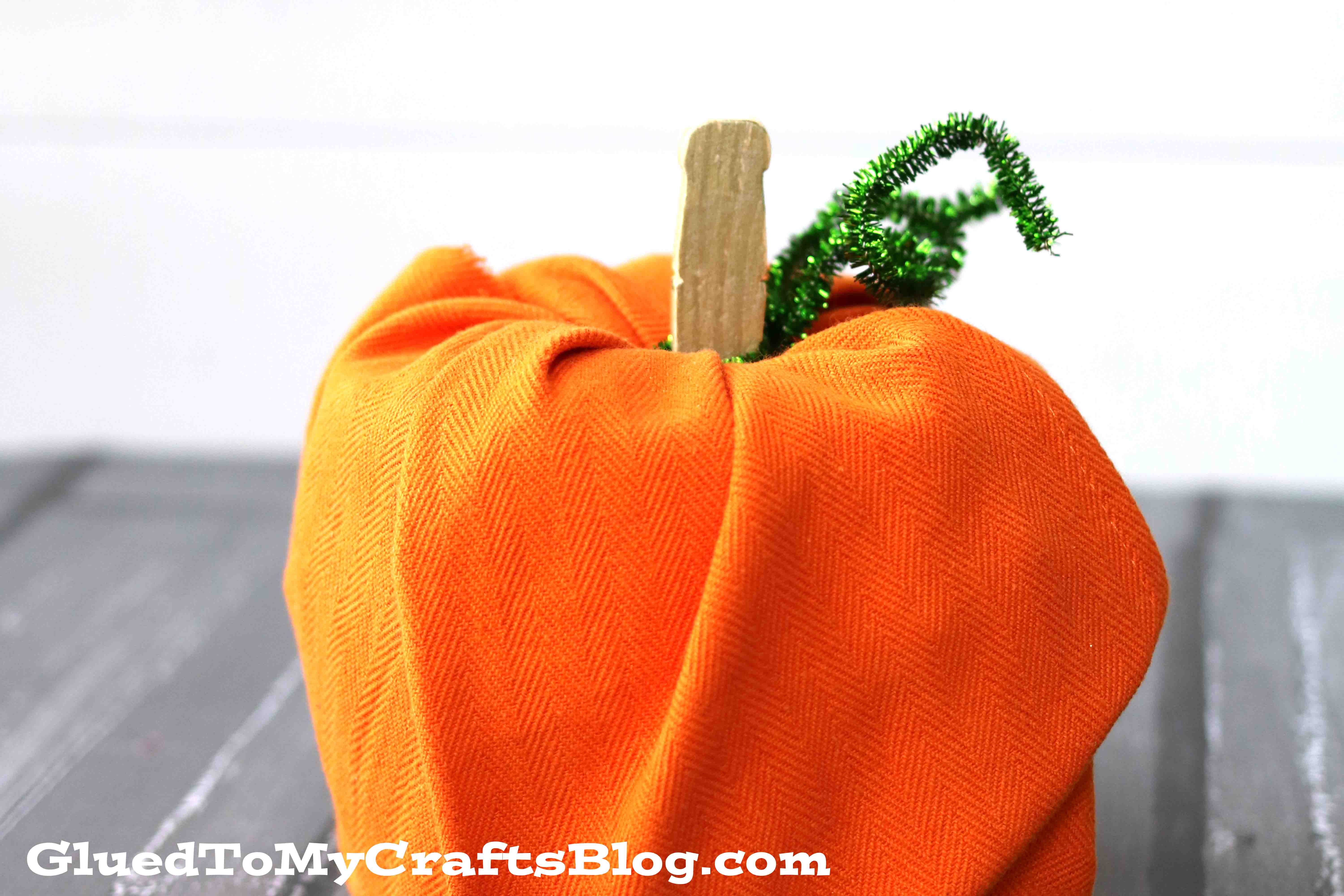 Fabric Covered Toilet Roll Pumpkin