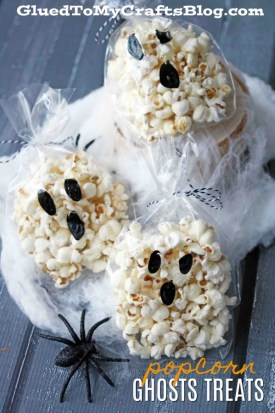 Effortless Ghost Popcorn Treat Bags