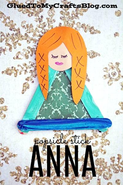 Popsicle Stick Anna - Kid Craft