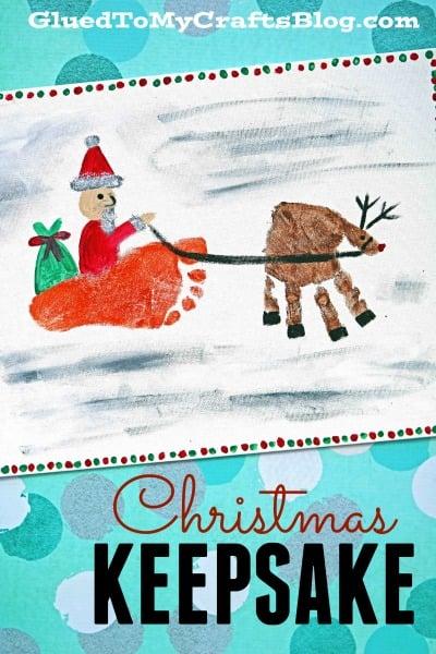 Santa and His Reindeer - Keepsake Idea