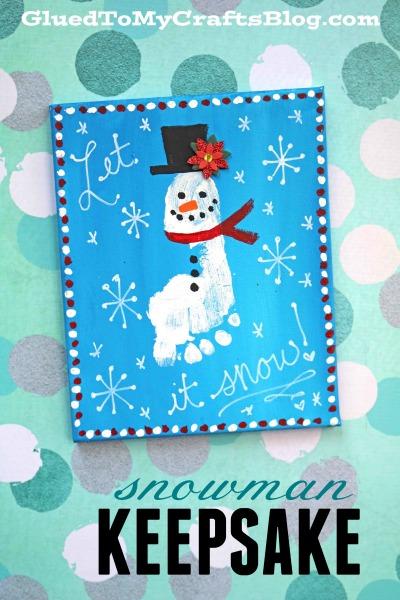 Footprint Snowman Keepsake - Winter Idea