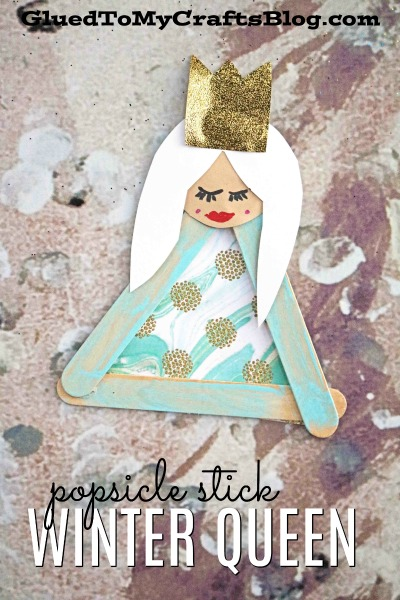 Popsicle Stick Ice Queen - Kid Craft