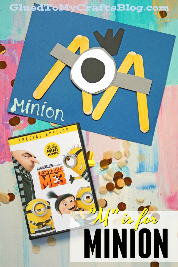 """""""M"""" is for Minion - Kid Craft"""