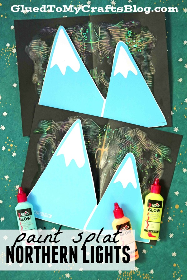 Paint Splat Northern Lights - Kid Craft w/free template