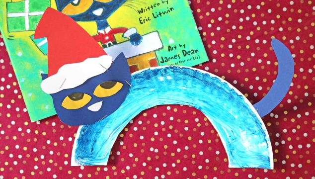 Paper Plate Pete The Cat Santa - Kid Craft
