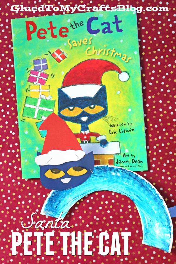 Paper Plate Pete The Cat Santa - Kid Craft