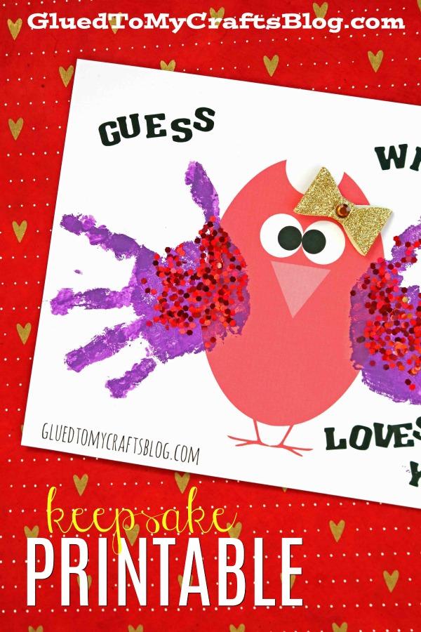 Handprint Valentine Owl Free Printable Template Glued To My Crafts