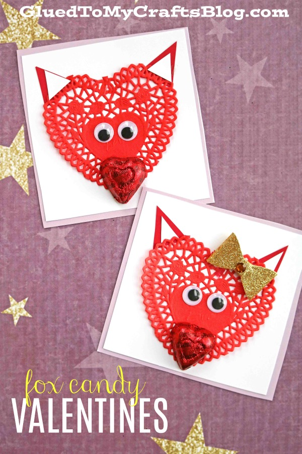 Super Adorable Paper Doily Fox Valentines