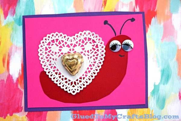 Valentine Themed Paper Doily Snail Cards Glued To My Crafts
