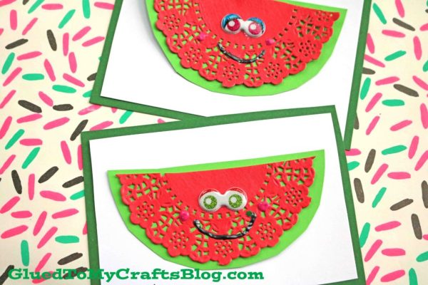 Creative Paper Doily Watermelon Cards - DIY Craft