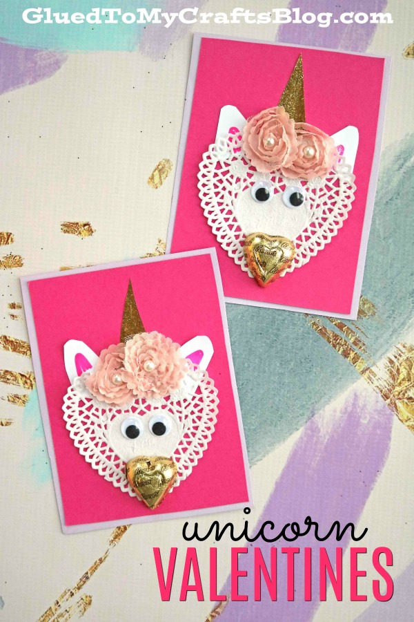 DIY Paper Doily Unicorn Valentines
