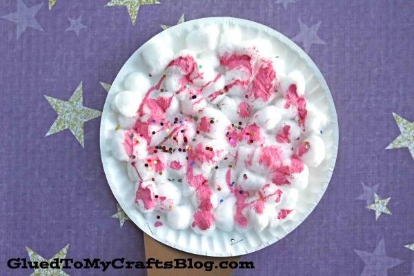 Extra Sweet Pretend Paper Plate Cotton Candy - Kid Craft