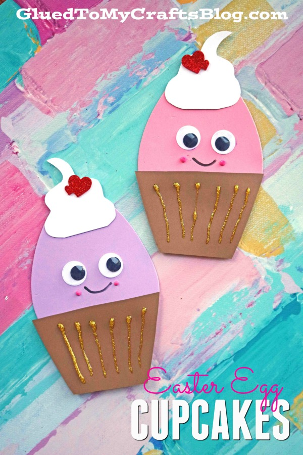 Easter Egg Cupcake Friends - Kid Craft