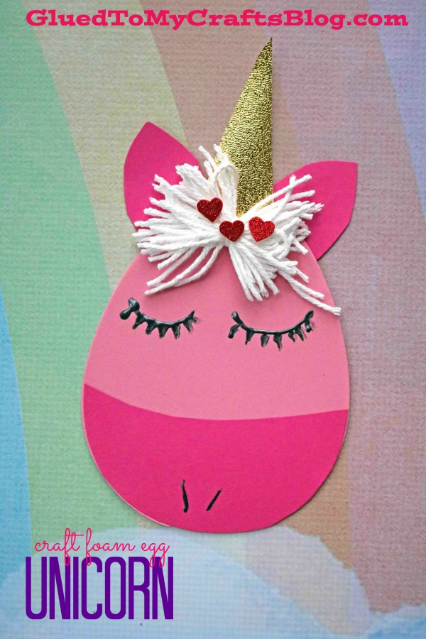 Craft Foam Egg Unicorn - Kid Craft