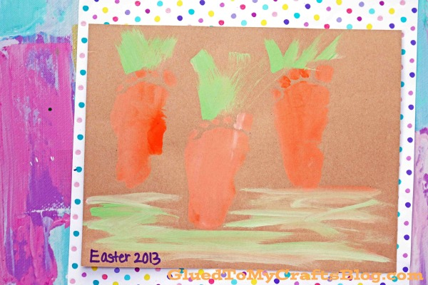 Footprint Carrots - Easter Keepsake Idea