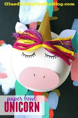 Paper Bowl Unicorn - Kid Craft