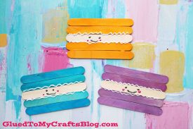 Popsicle Stick Macaroon Friends – Kid Craft