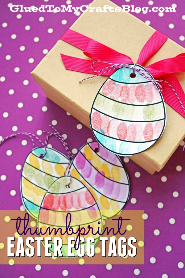 Thumbprint easter egg gift tags free template glued to my crafts thumbprint easter egg gift tags free template negle Image collections