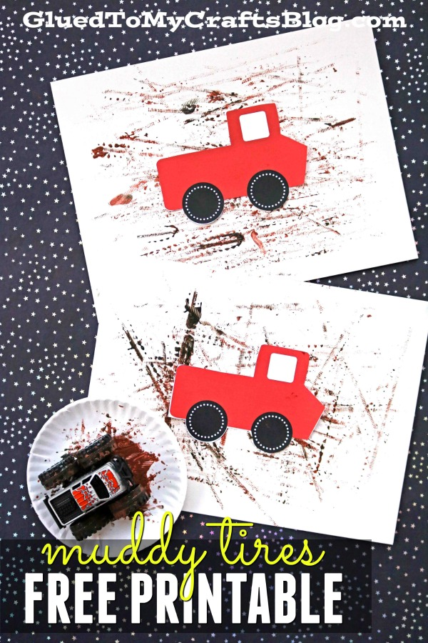 Muddy Tires - Kid Craft Idea w/free template
