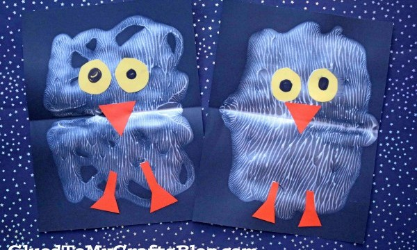 Paint Splat Snowy Baby Owl – Kid Craft