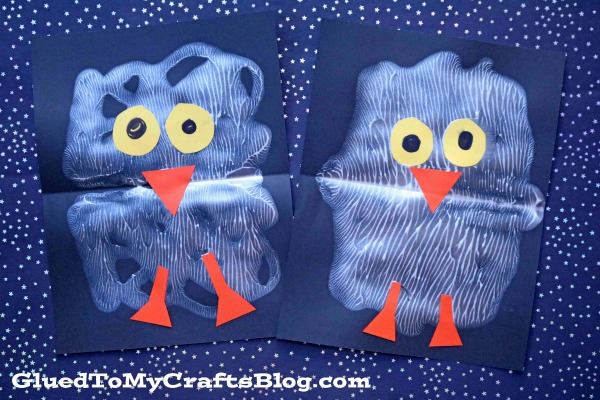 Paint Splat Snowy Baby Owl - Kid Craft