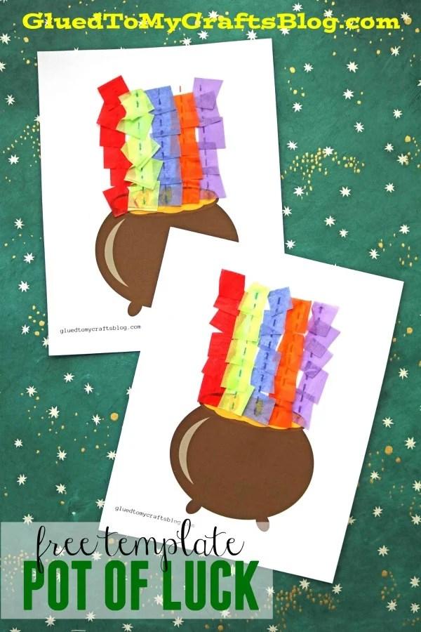Tissue Paper Rainbow Pot of Gold - Kid Craft