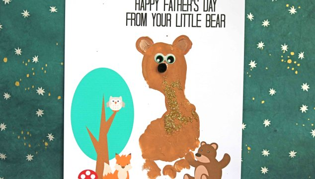 Footprint Baby Bear – Father's Day Keepsake Printable