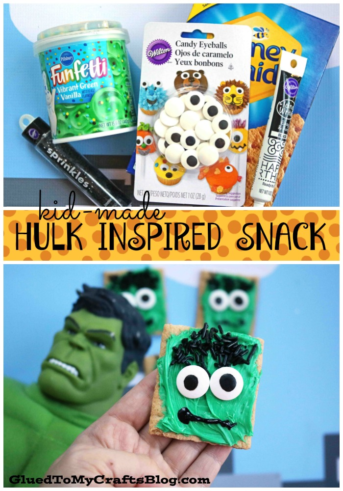 Hulk Inspired Graham Cracker Snack Idea