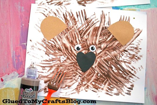 Fork Painted Bear - Kid Craft