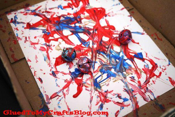 Marbled Fireworks Scene - Kid Craft