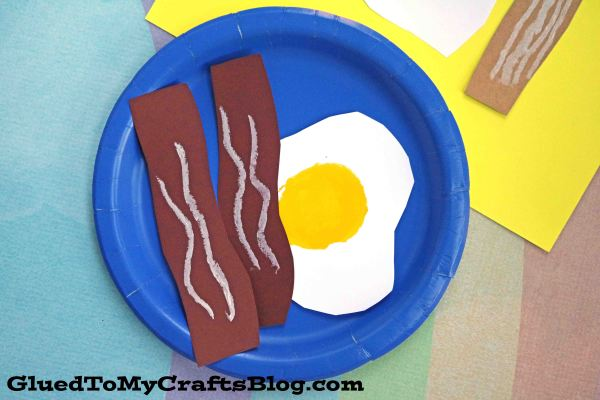 Pretend Paper Breakfast - Kid Craft Idea
