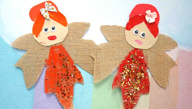 Autumn Leaf Fairies - Puppet Kid Craft