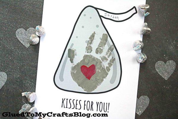 Kisses For You - Handprint Keepsake Printable