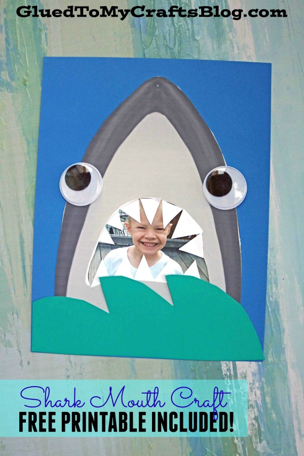 Paper Shark Mouth - Kid Craft w/free printable