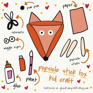 Popsicle Stick Fox - Kid Craft Idea