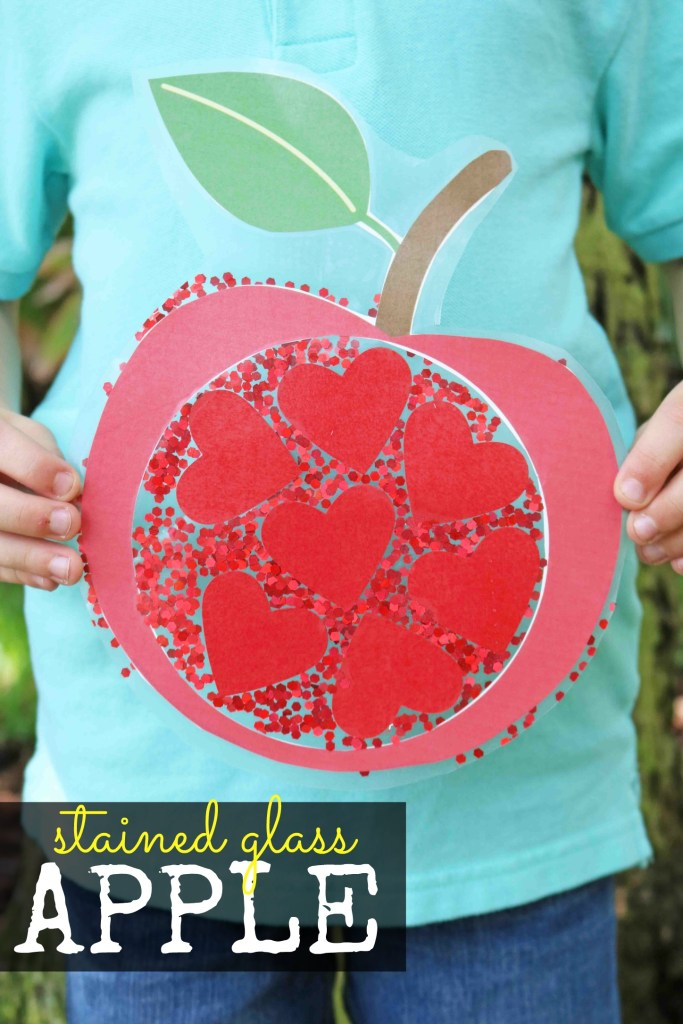Stained Glass Apple Kid Craft
