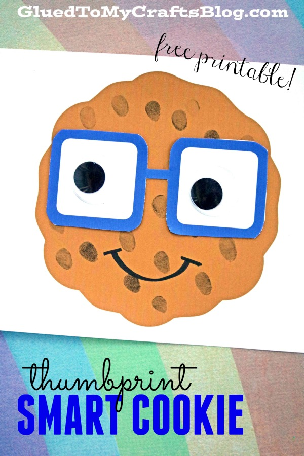 photograph relating to You're One Smart Cookie Printable identify Thumbprint Clever Cookie
