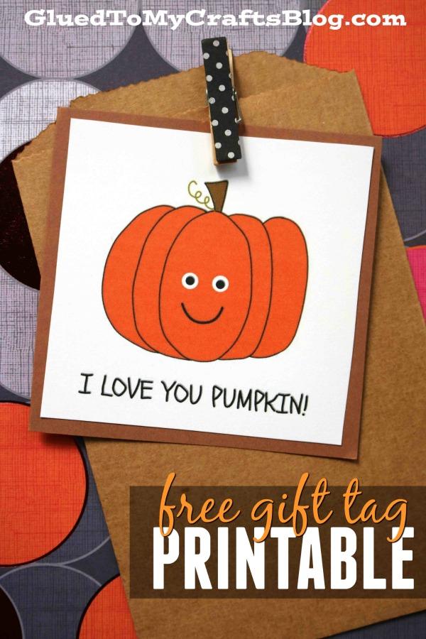 Love You Pumpkin - Gift Tag Printable
