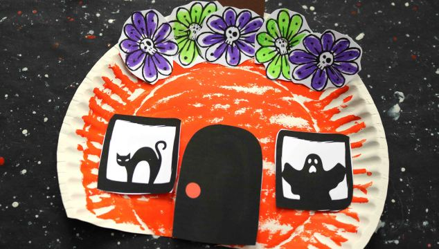 Paper Plate Haunted Pumpkin House – Kid Craft