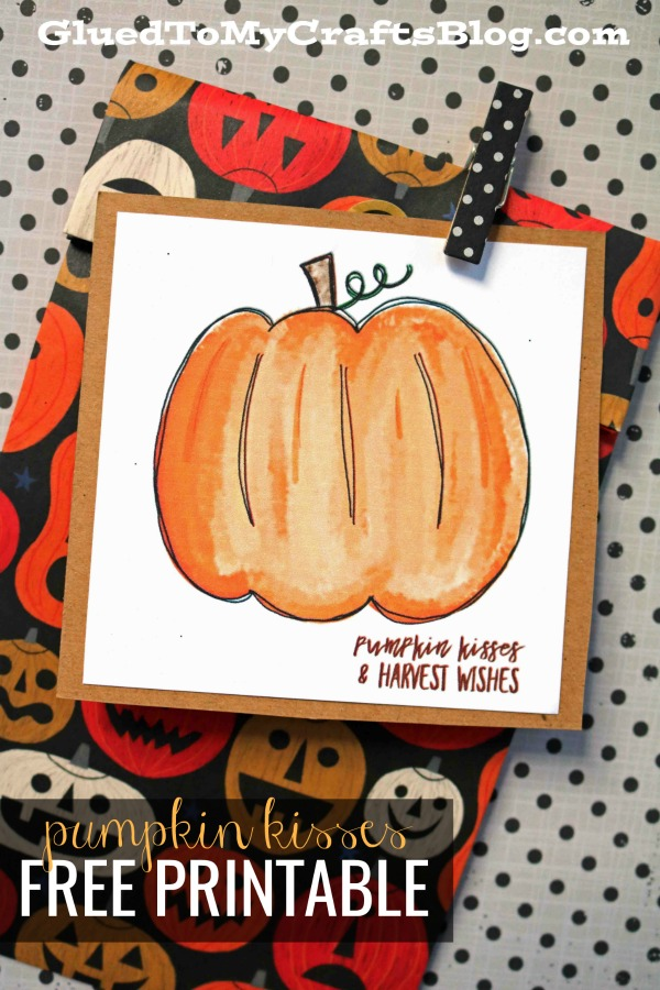 Pumpkin Kisses - Fall Gift Tag Printable