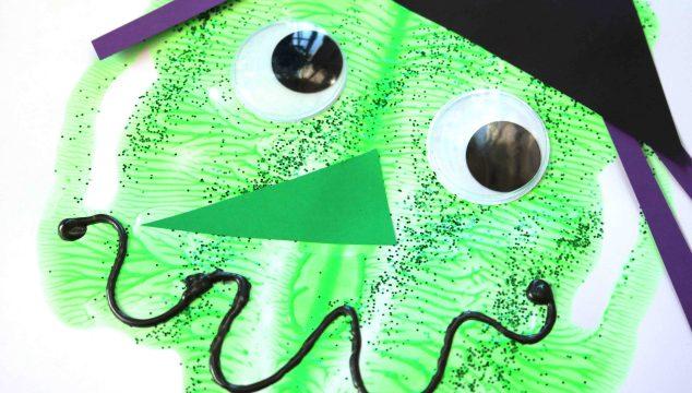 Paint Splat Witch Face - Halloween Kid Craft