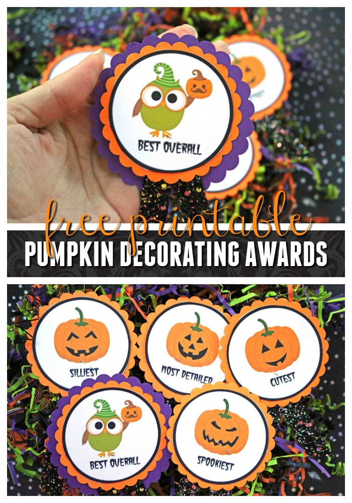 Pumpkin Decorating Awards - Free Gift Tag Printable