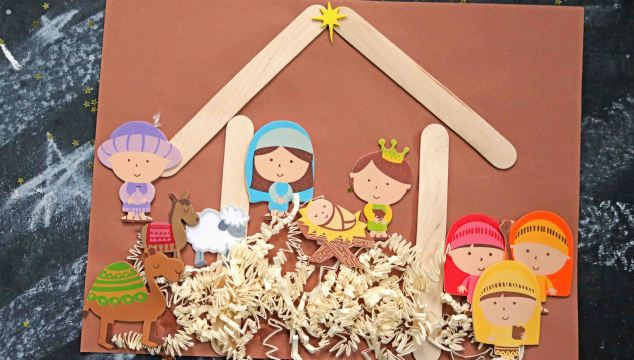 Mixed Media Nativity Scene – Kid Craft