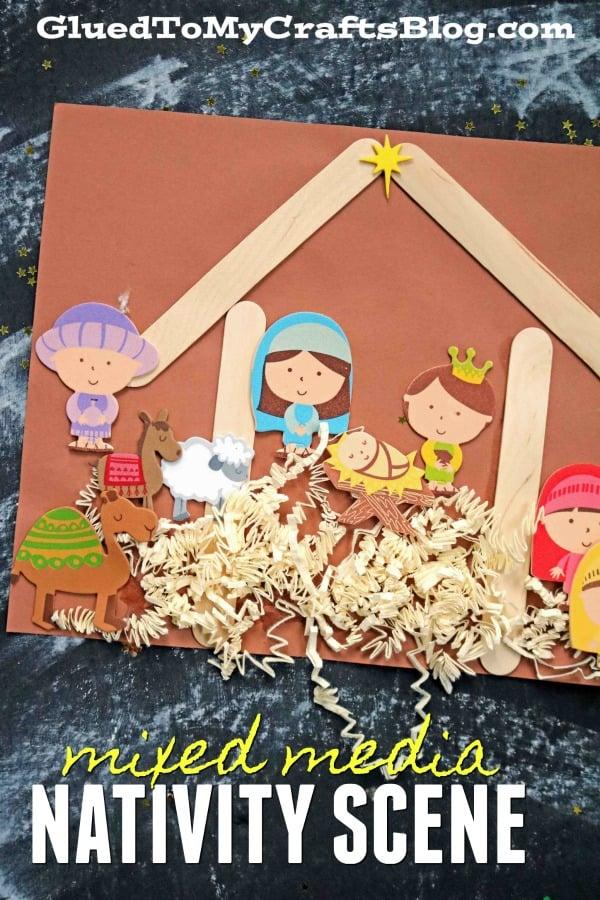 Mixed Media Nativity Scene - Kid Craft