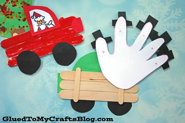 Popsicle Stick Christmas Trucks - Kid Craft