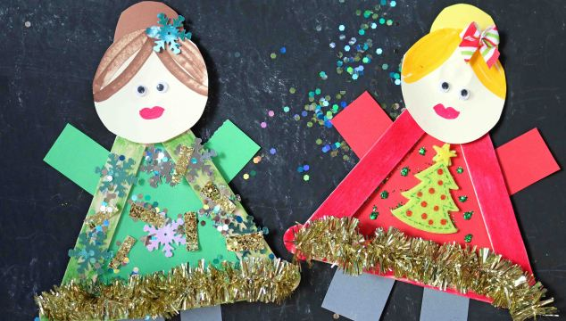 Popsicle Stick Ugly Sweater Friends – Kid Craft