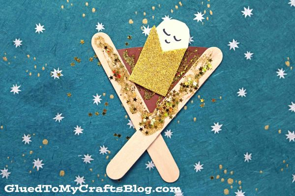 Popsicle Stick Baby Jesus In A Manger - Kid Craft