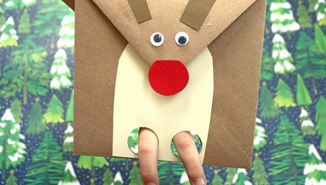 Reindeer Envelope Puppet – Kid Craft