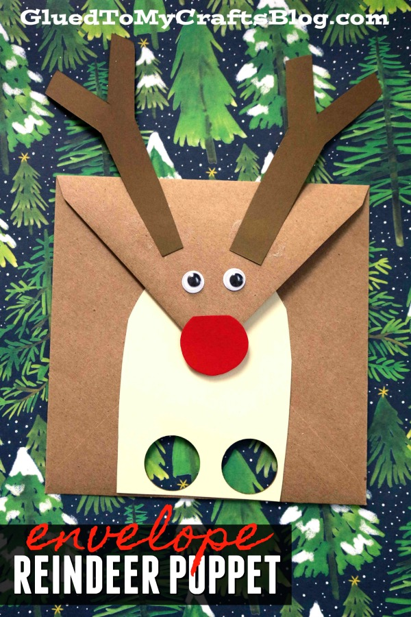 Reindeer Envelope Puppet - Kid Craft